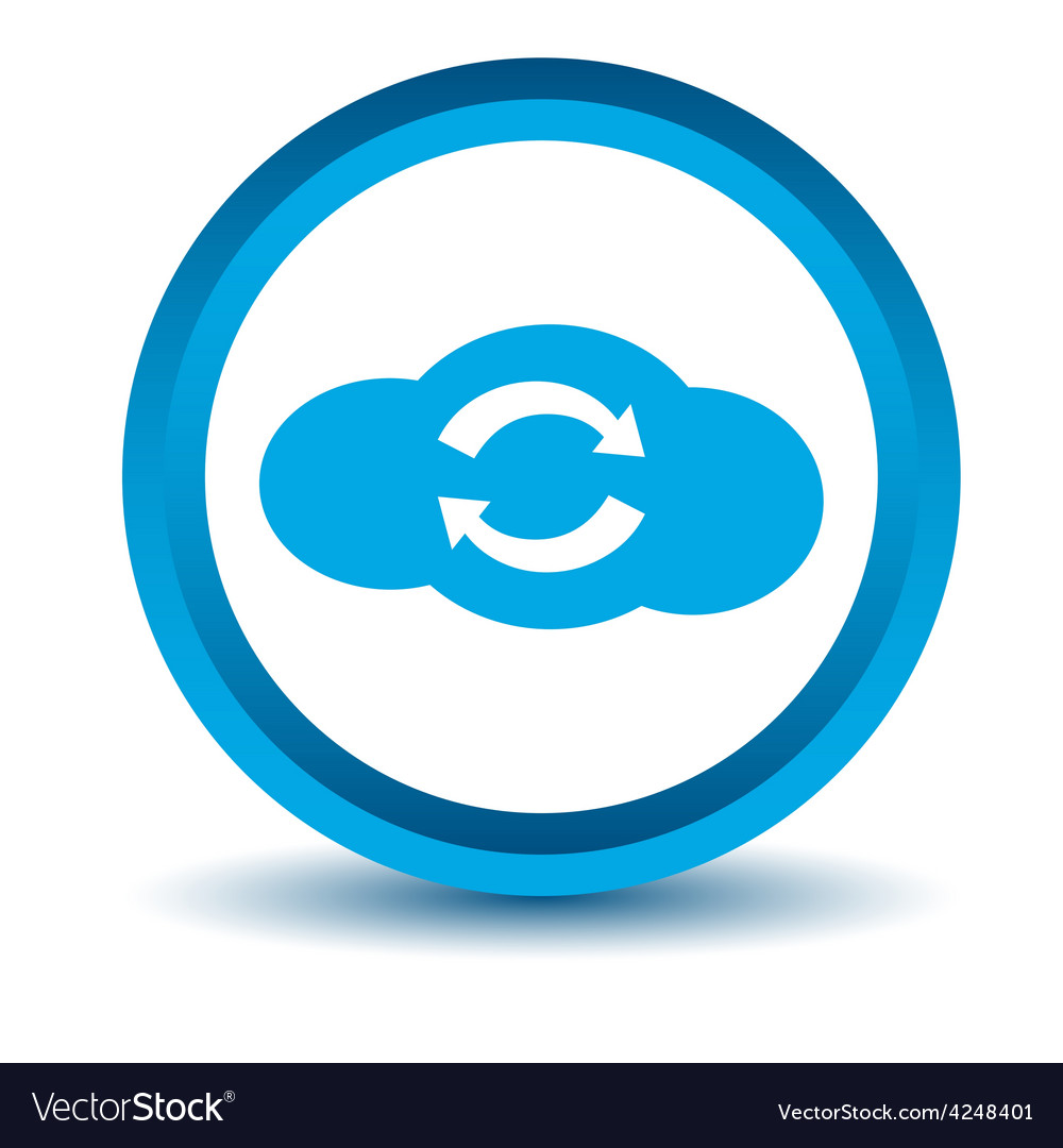 Blue synchronization cloud icon vector | Price: 1 Credit (USD $1)