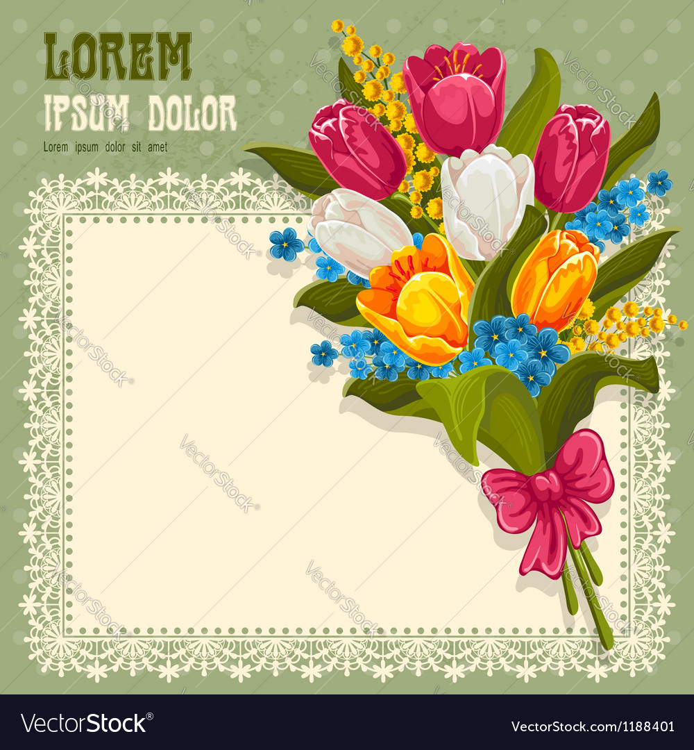 Bouquet of spring flowers vector | Price: 3 Credit (USD $3)