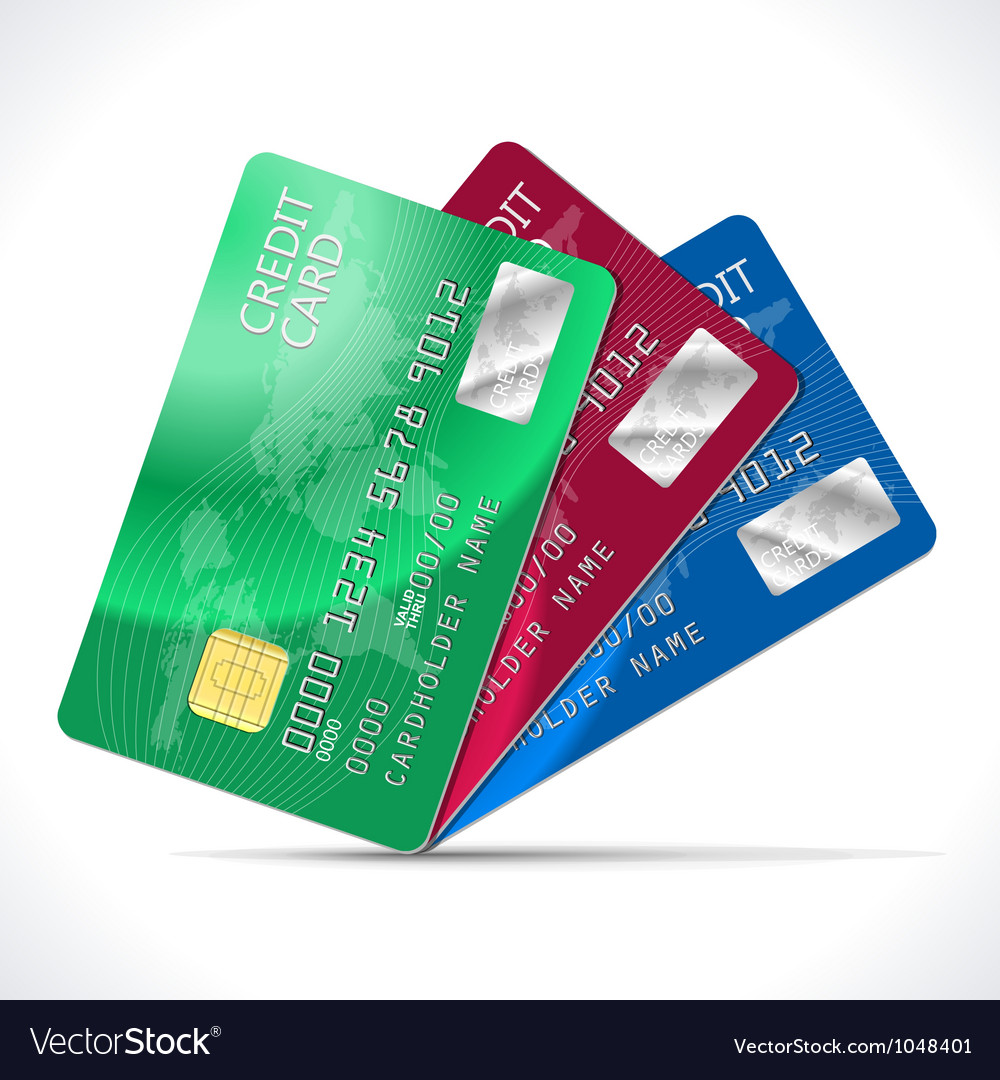 Credit cards vector | Price: 1 Credit (USD $1)