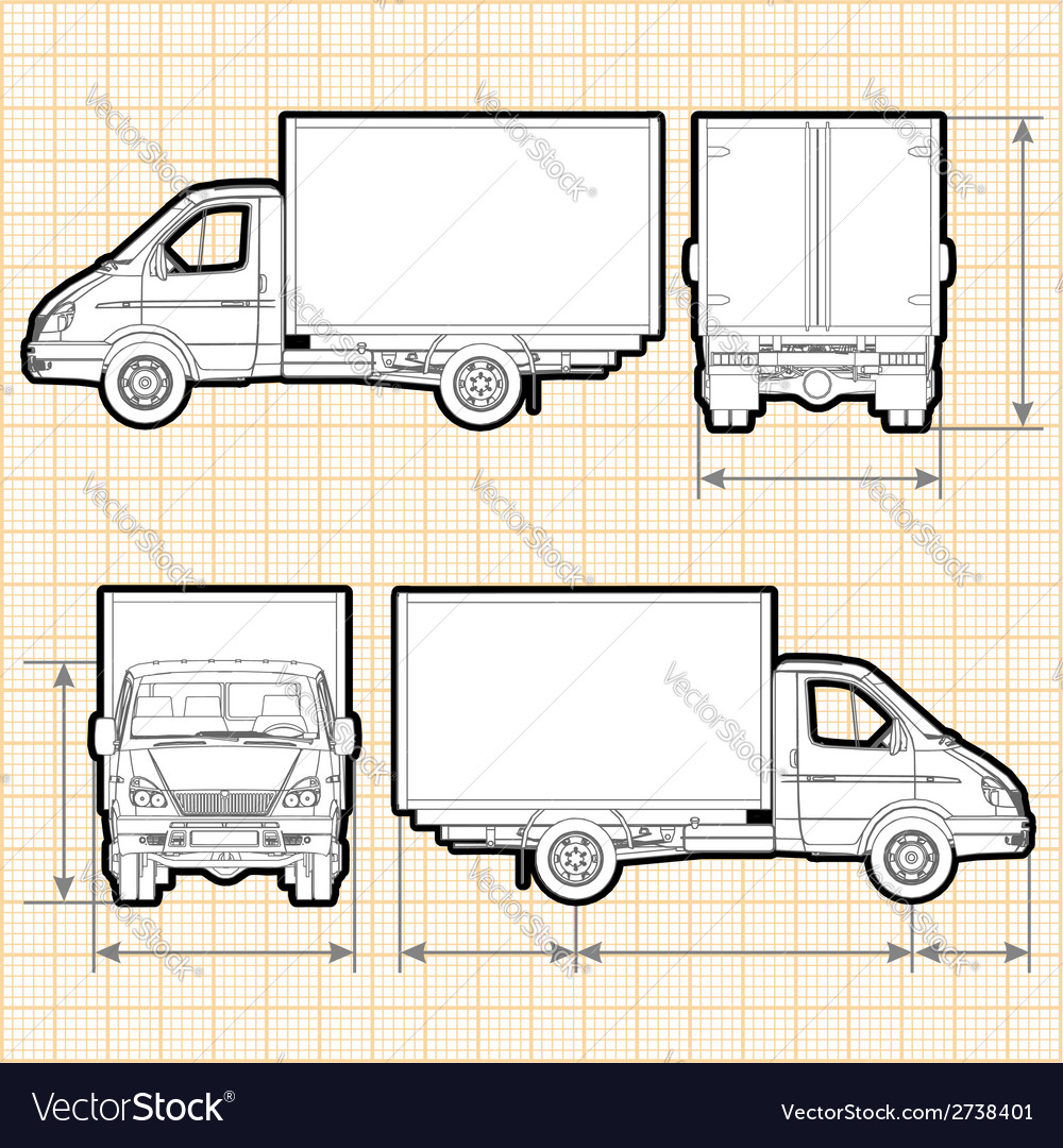 Delivery cargo truck vector | Price: 1 Credit (USD $1)