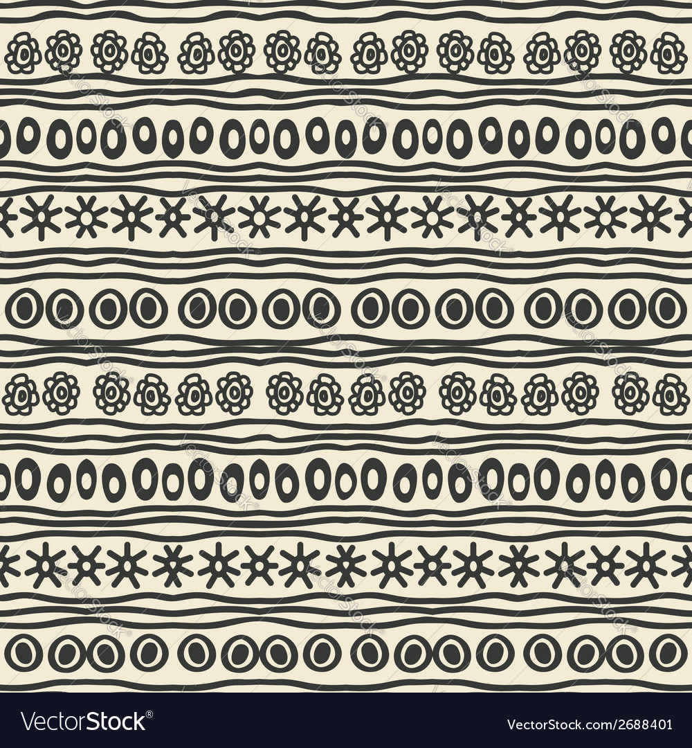 Hand drawing ethnic pattern vector | Price: 1 Credit (USD $1)