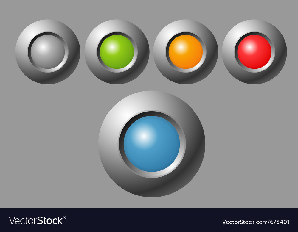 Indicator button vector | Price: 1 Credit (USD $1)