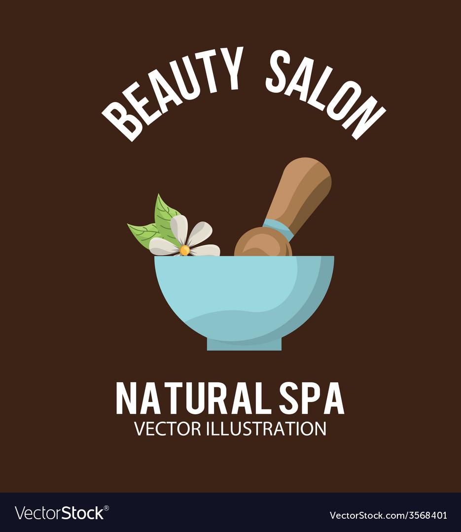 Natural spa design vector | Price: 1 Credit (USD $1)