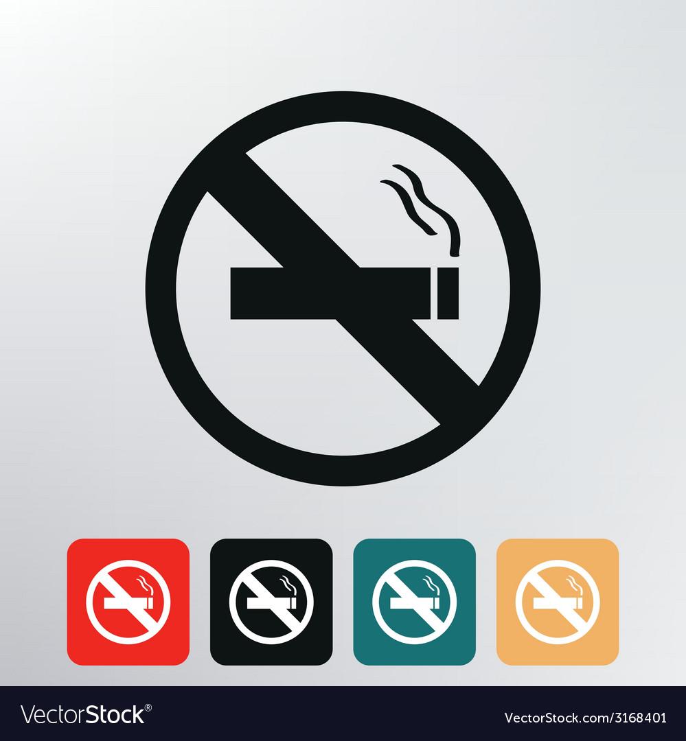 No smoking icon vector | Price: 1 Credit (USD $1)