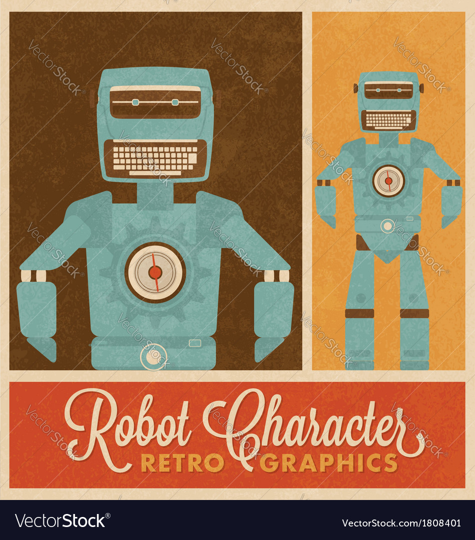 Robot character vector | Price: 1 Credit (USD $1)