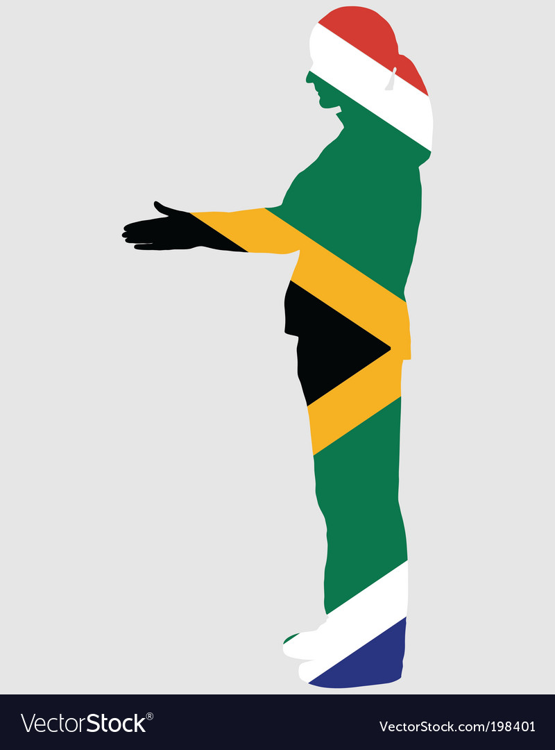 Salute from south africa vector | Price: 1 Credit (USD $1)