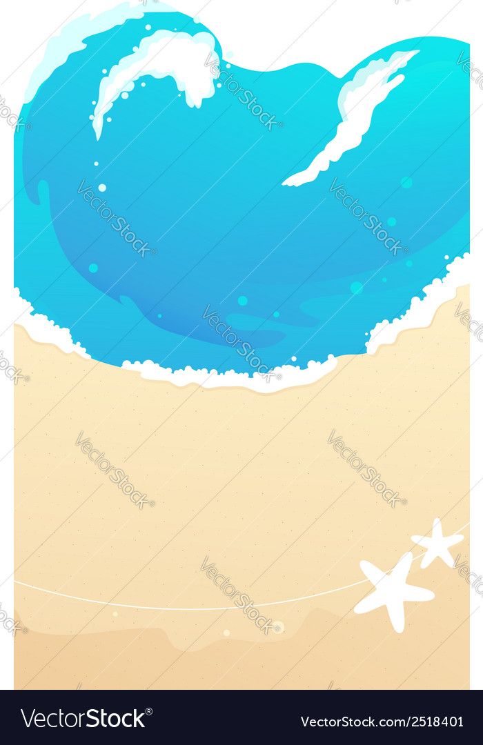 Sandy beach waves vector | Price: 1 Credit (USD $1)
