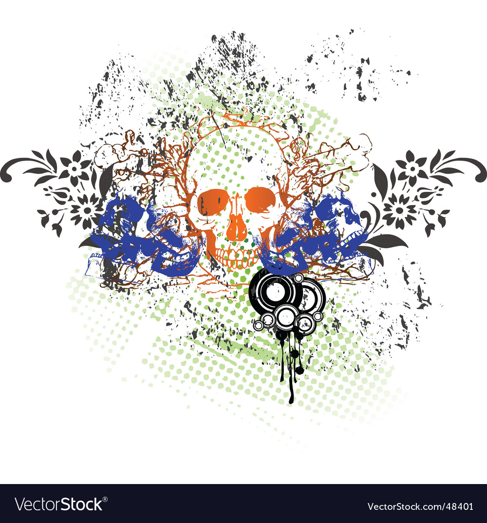 Tattoo skull grunge vector | Price: 1 Credit (USD $1)