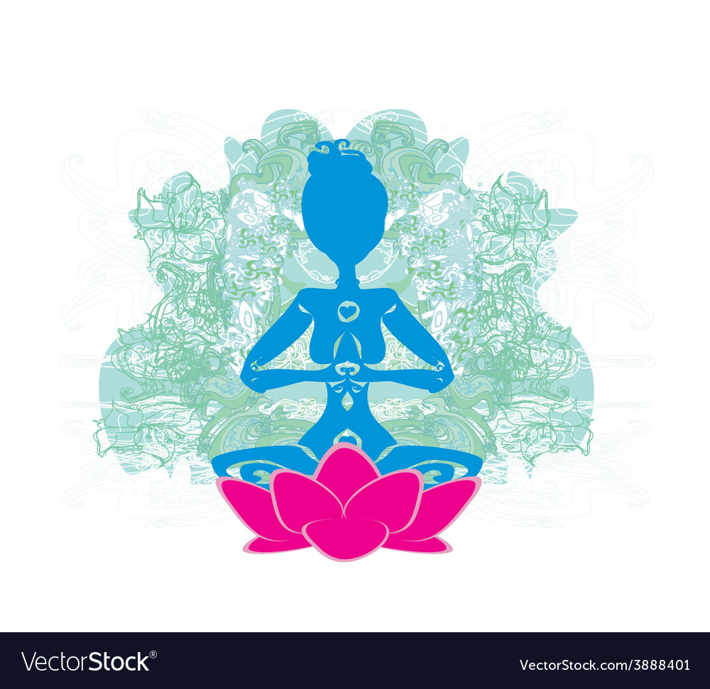 Yoga and spirituality vector | Price: 1 Credit (USD $1)