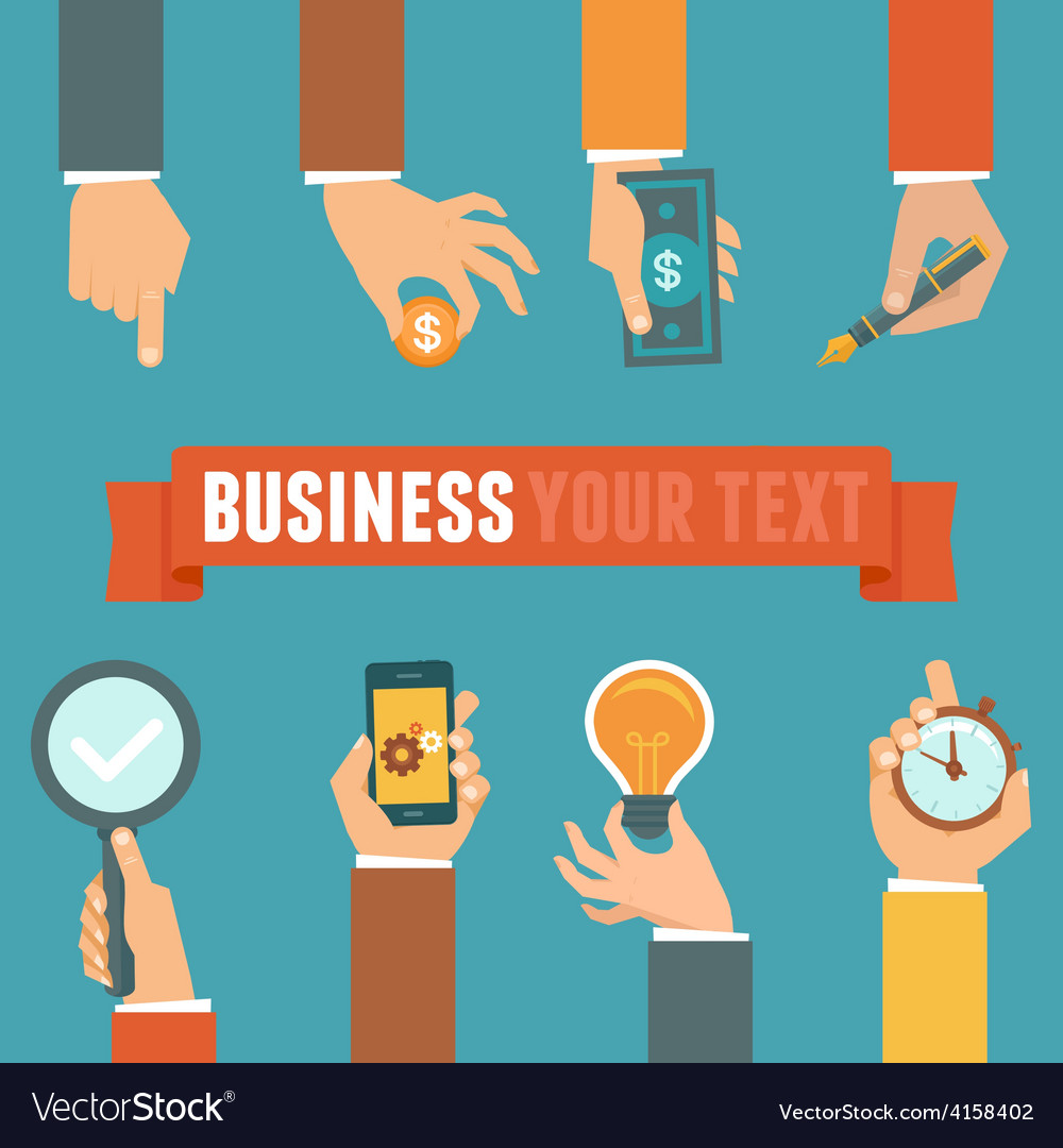 Business and management concept vector | Price: 1 Credit (USD $1)