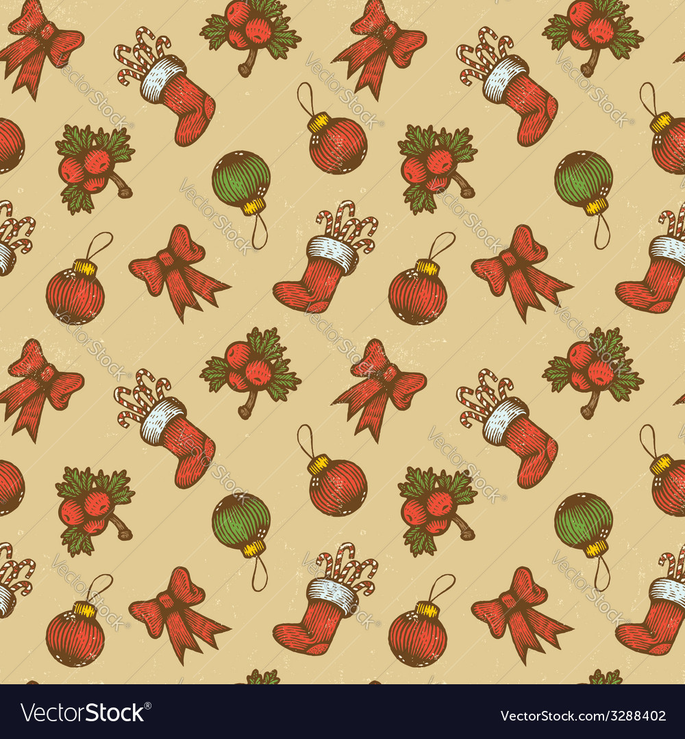 Christmas pattern vector | Price: 1 Credit (USD $1)