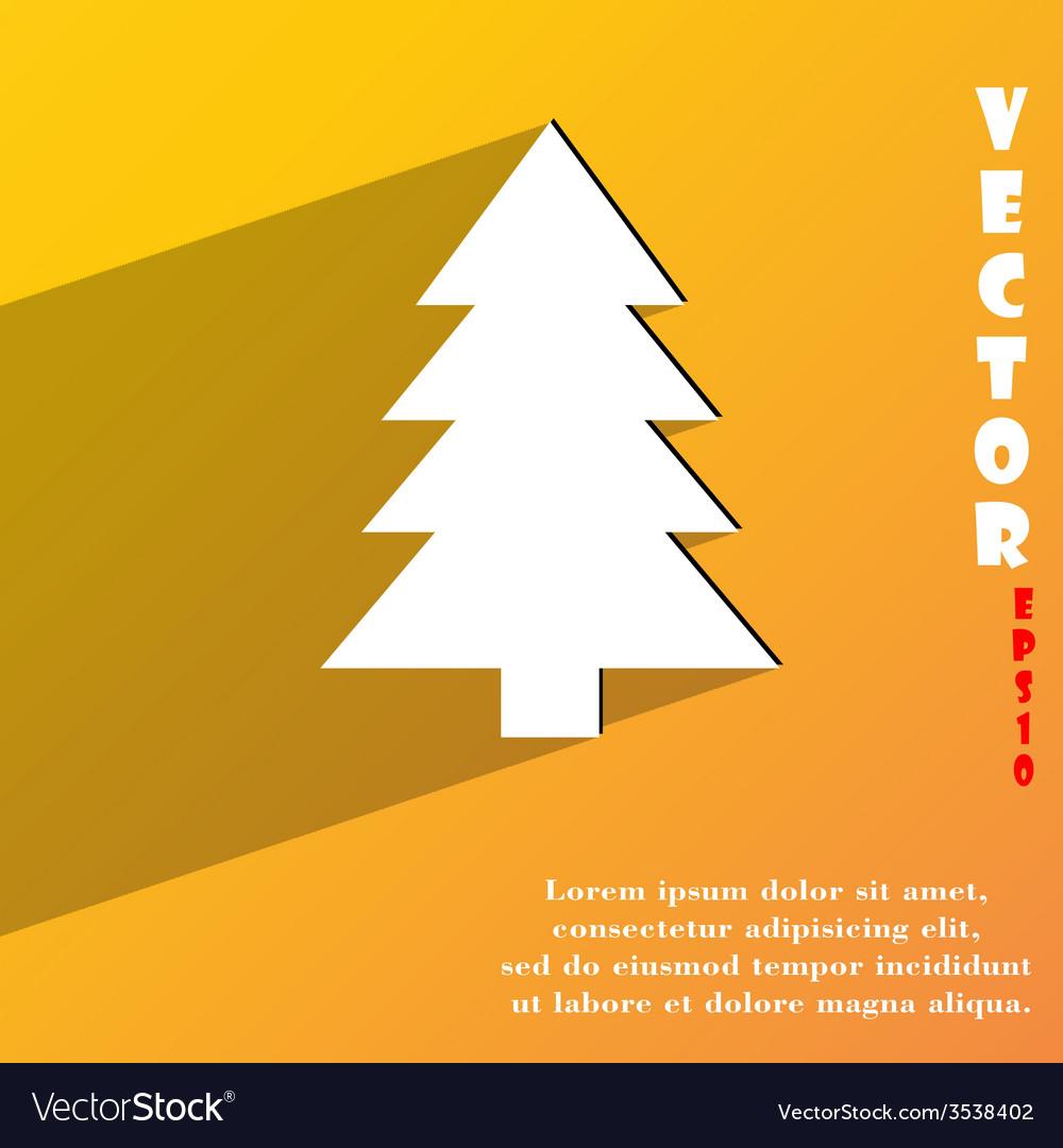 Christmas tree icon symbol flat modern web design vector | Price: 1 Credit (USD $1)
