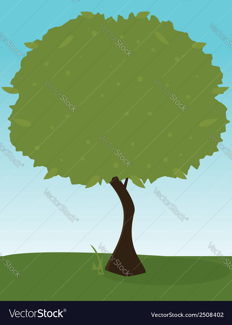 Green tree outdoors 1 vector | Price: 1 Credit (USD $1)
