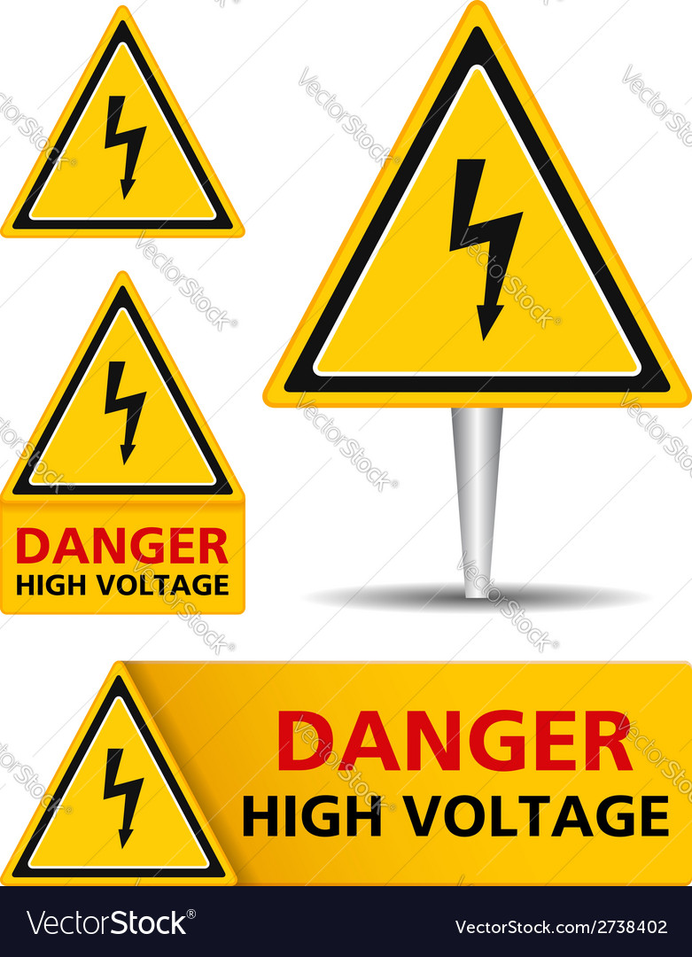 High voltage signs vector | Price: 1 Credit (USD $1)