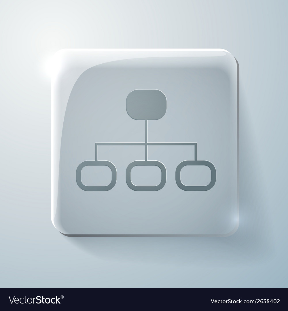 Server network glass square icon vector | Price: 1 Credit (USD $1)