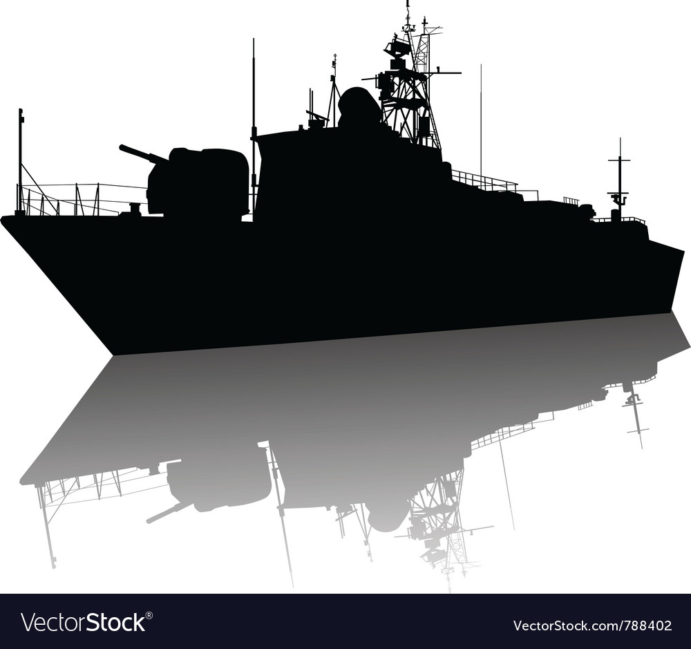 Ship detailed silhouette vector | Price: 1 Credit (USD $1)