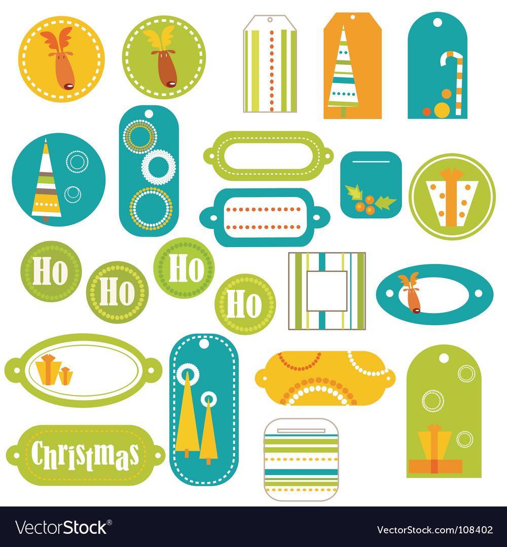 Stickers retro vector | Price: 1 Credit (USD $1)