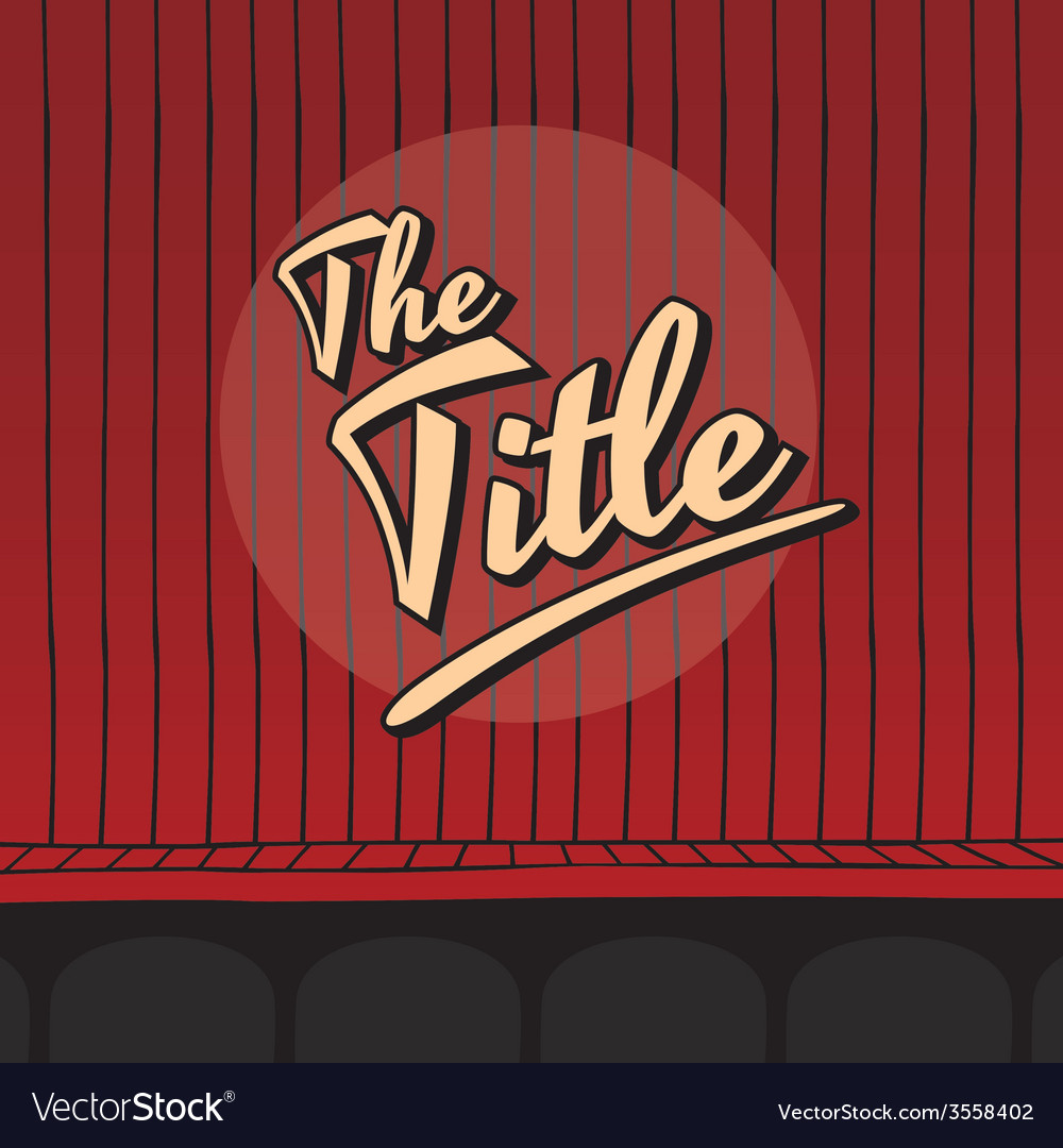 Title live stage red curtain vector | Price: 1 Credit (USD $1)