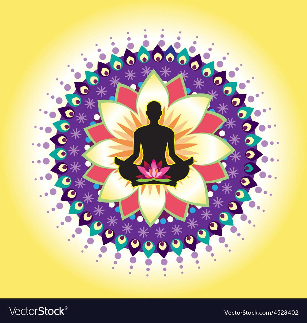 Yoga icon vector | Price: 1 Credit (USD $1)