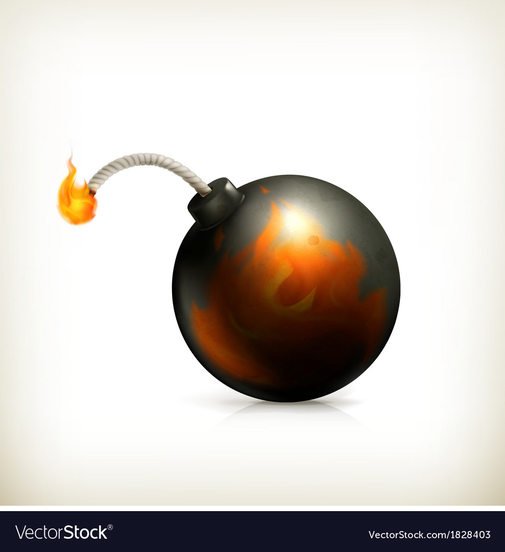 Bomb icon vector | Price: 1 Credit (USD $1)