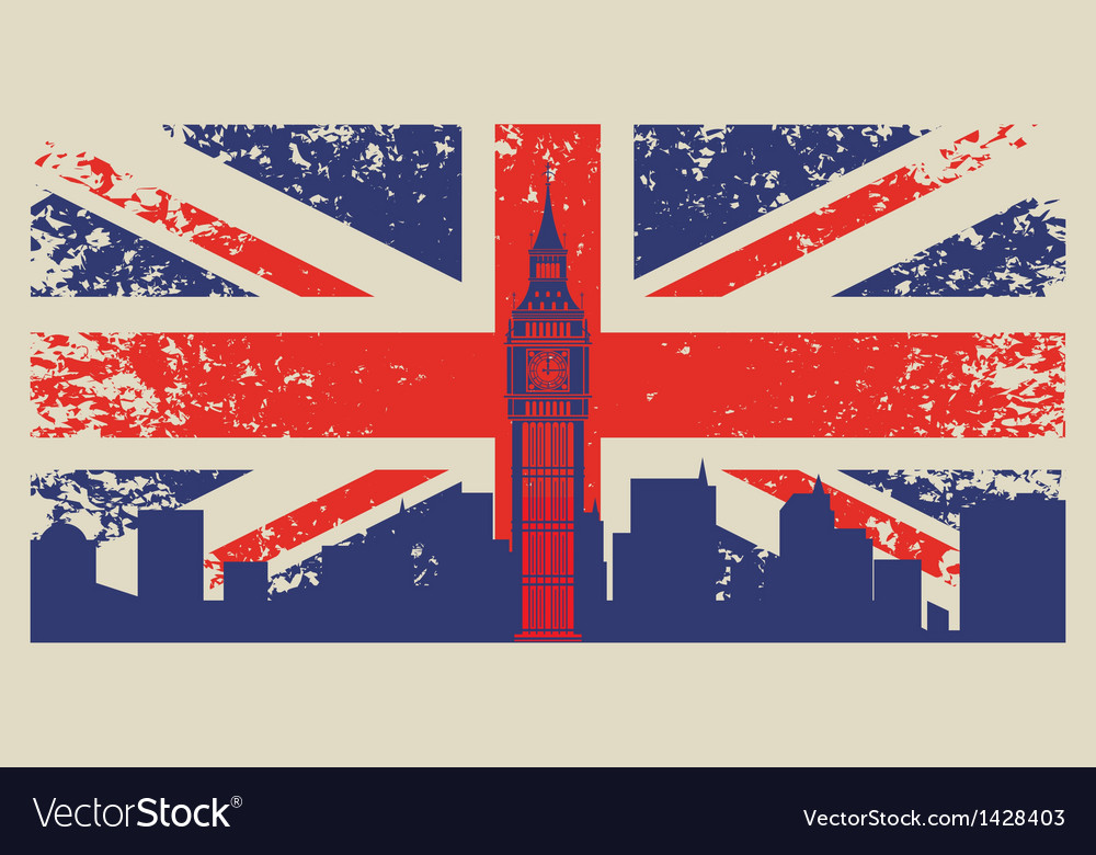 Britain flag vector | Price: 3 Credit (USD $3)