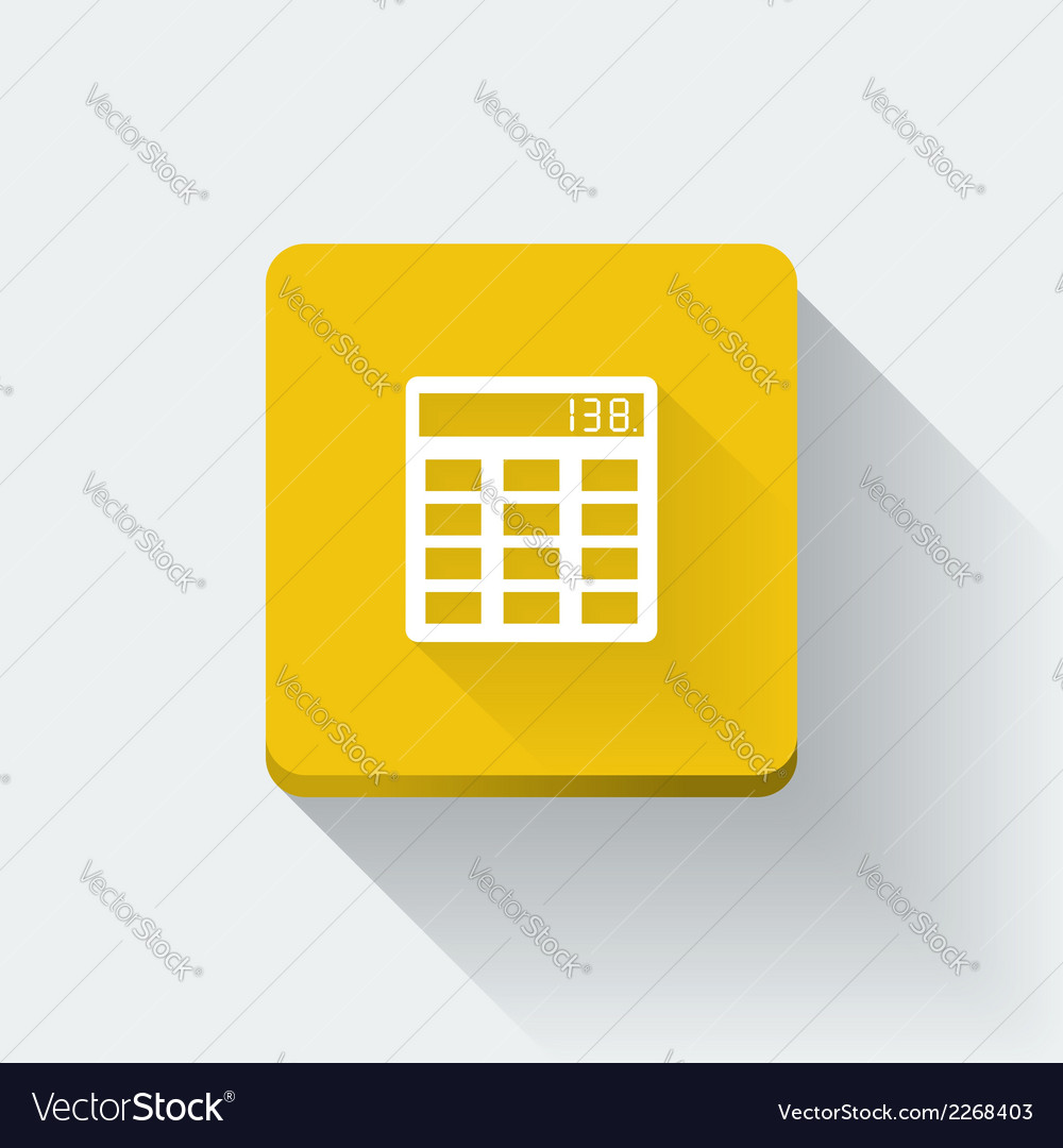 Calculator icon vector | Price: 1 Credit (USD $1)