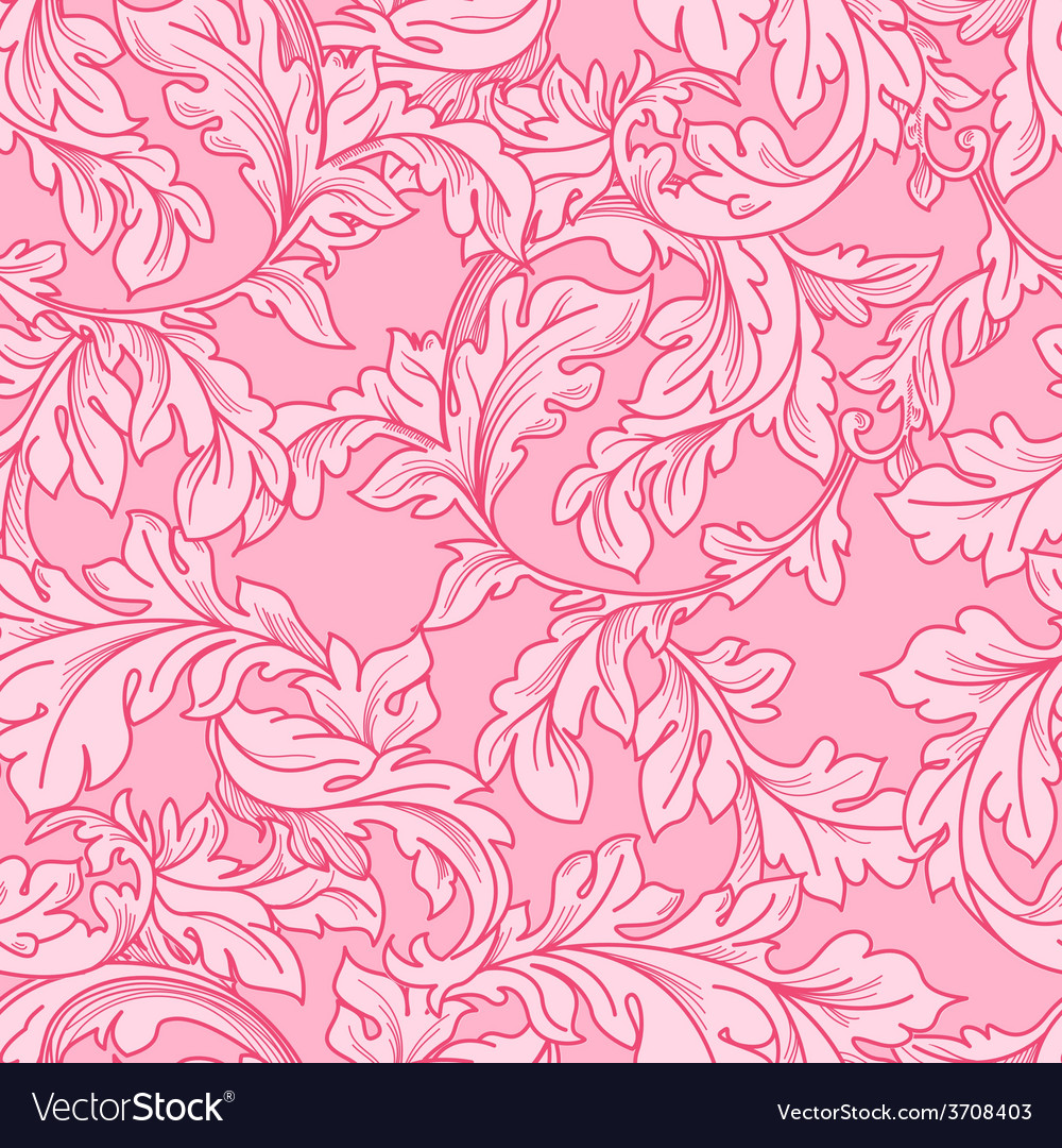 Classic baroque floral seamless pattern vector | Price: 1 Credit (USD $1)