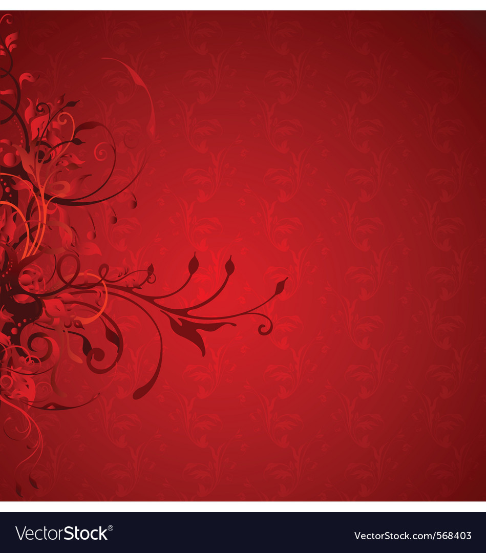 Decorative floral vector | Price: 1 Credit (USD $1)