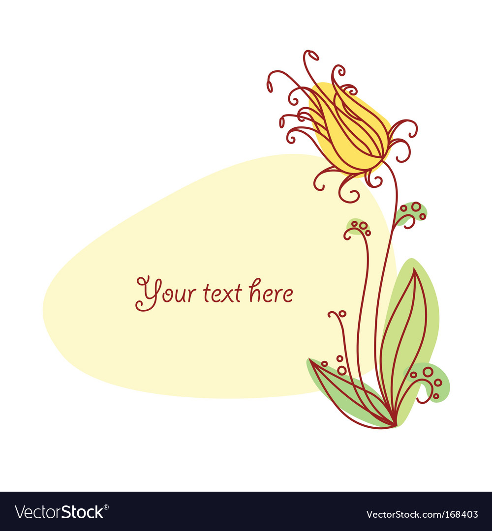 Flower vignette vector | Price: 1 Credit (USD $1)
