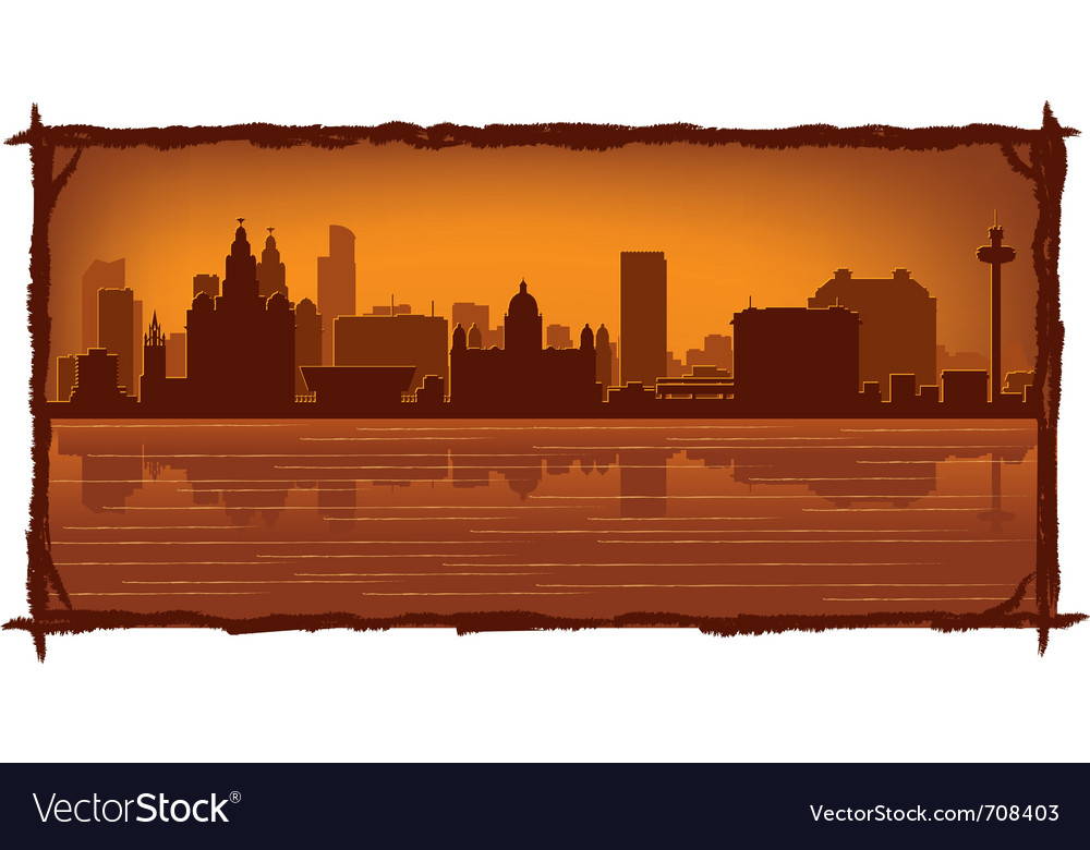 Liverpool england skyline vector | Price: 1 Credit (USD $1)