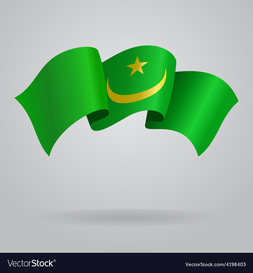 Mauritanian waving flag vector | Price: 1 Credit (USD $1)
