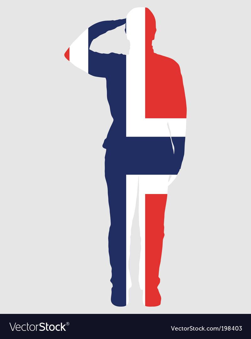 Norwegian salute vector | Price: 1 Credit (USD $1)