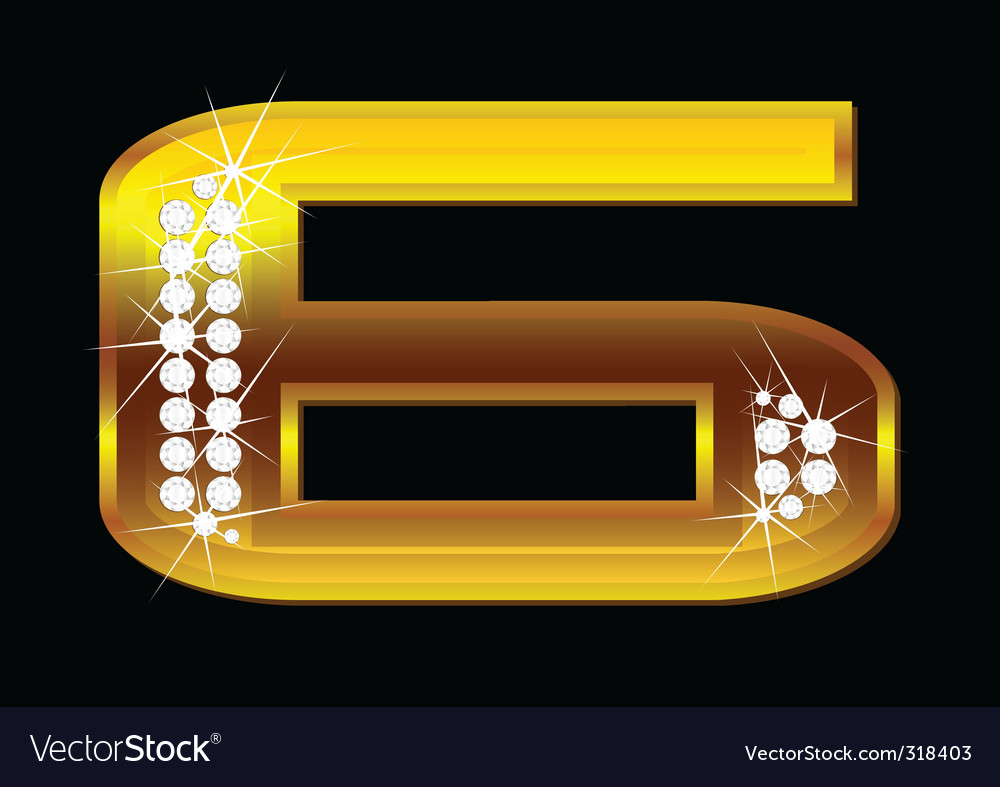 Number 6 vector | Price: 1 Credit (USD $1)