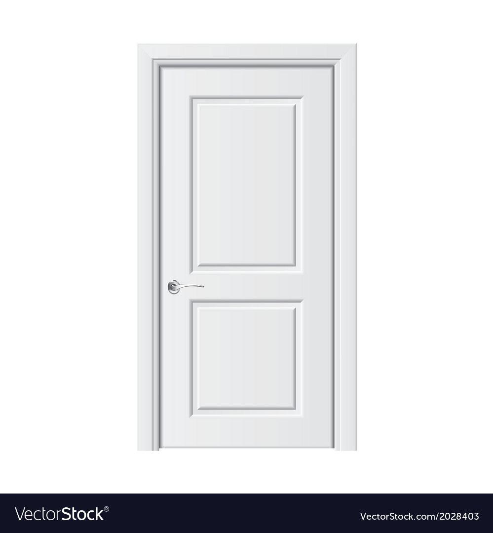 Object white door vector | Price: 1 Credit (USD $1)