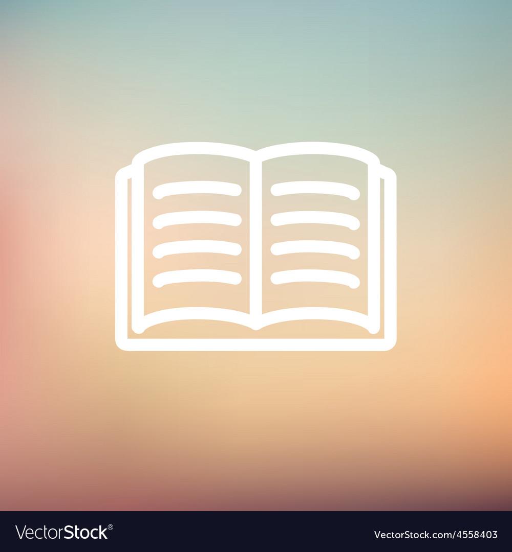 Open book thin line icon vector | Price: 1 Credit (USD $1)