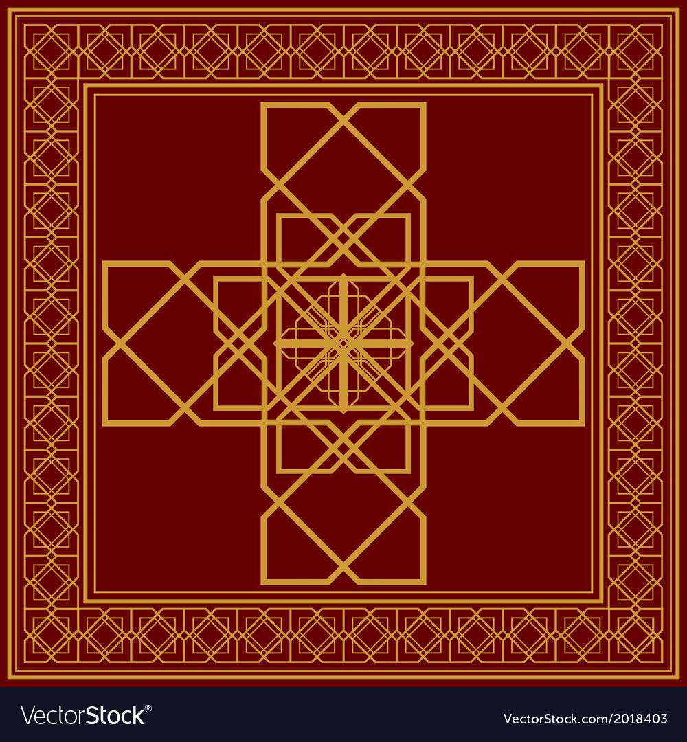 Oriental motif vector | Price: 1 Credit (USD $1)