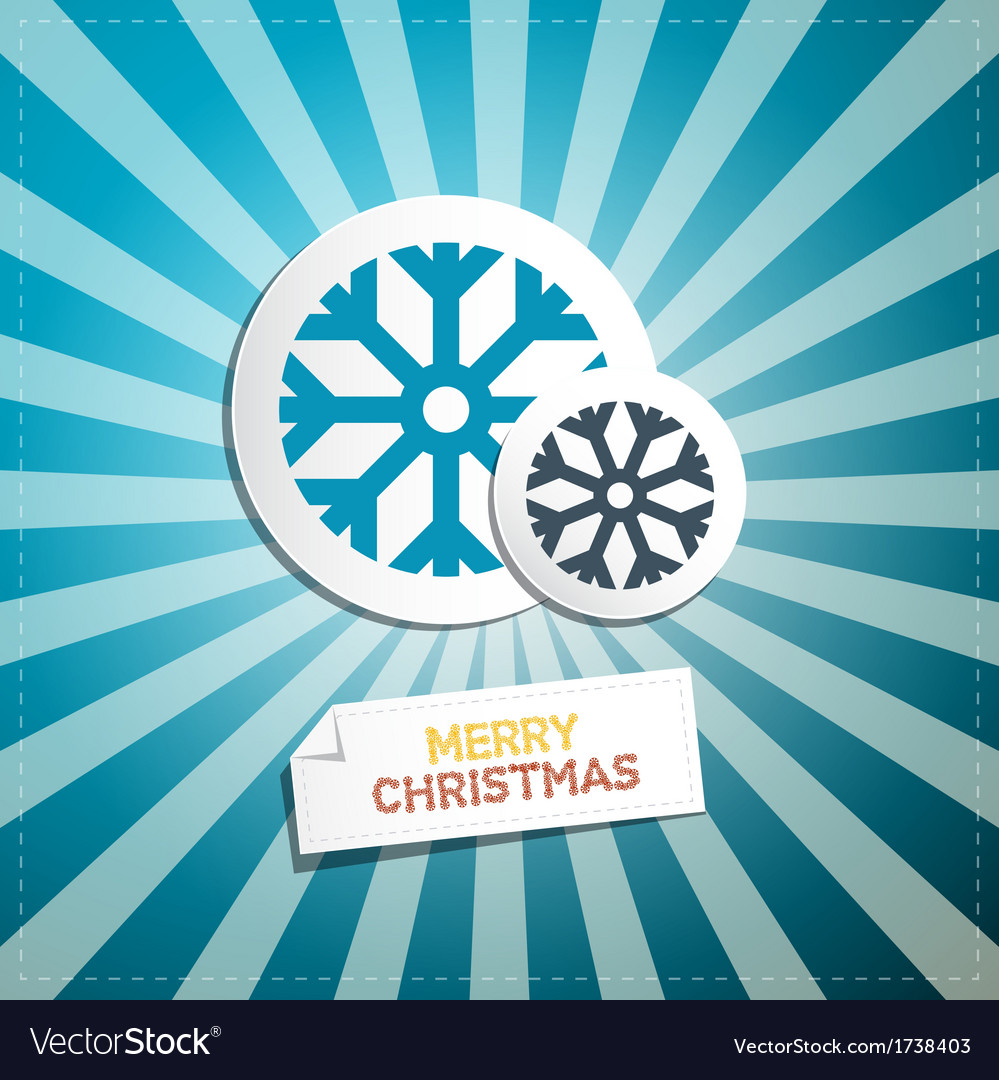 Retro abstract merry christmas background vector | Price: 1 Credit (USD $1)