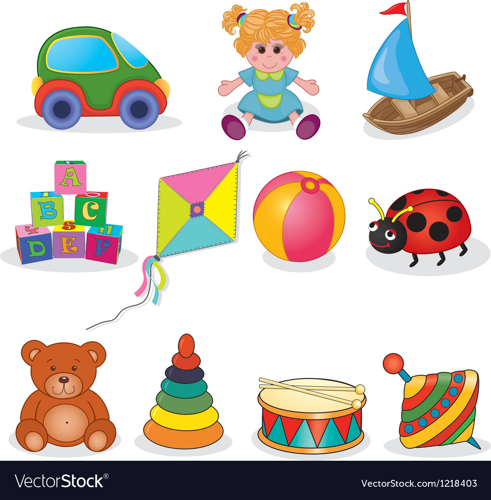 Set of babys toys vector | Price: 3 Credit (USD $3)