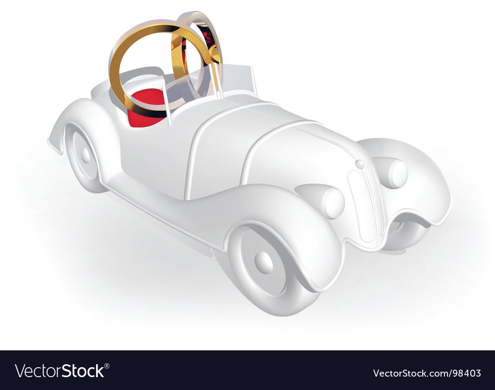 Wedding car vector | Price: 1 Credit (USD $1)