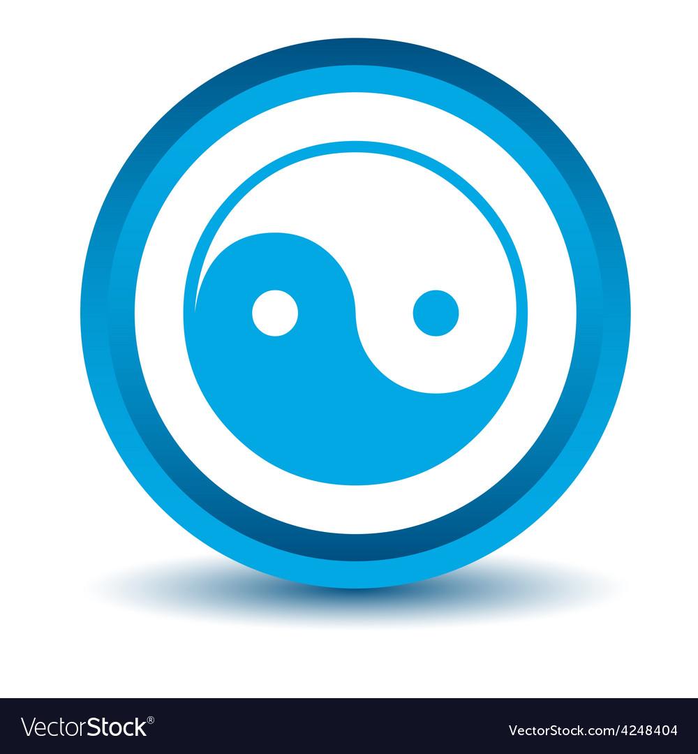 Blue yin yang icon vector | Price: 1 Credit (USD $1)