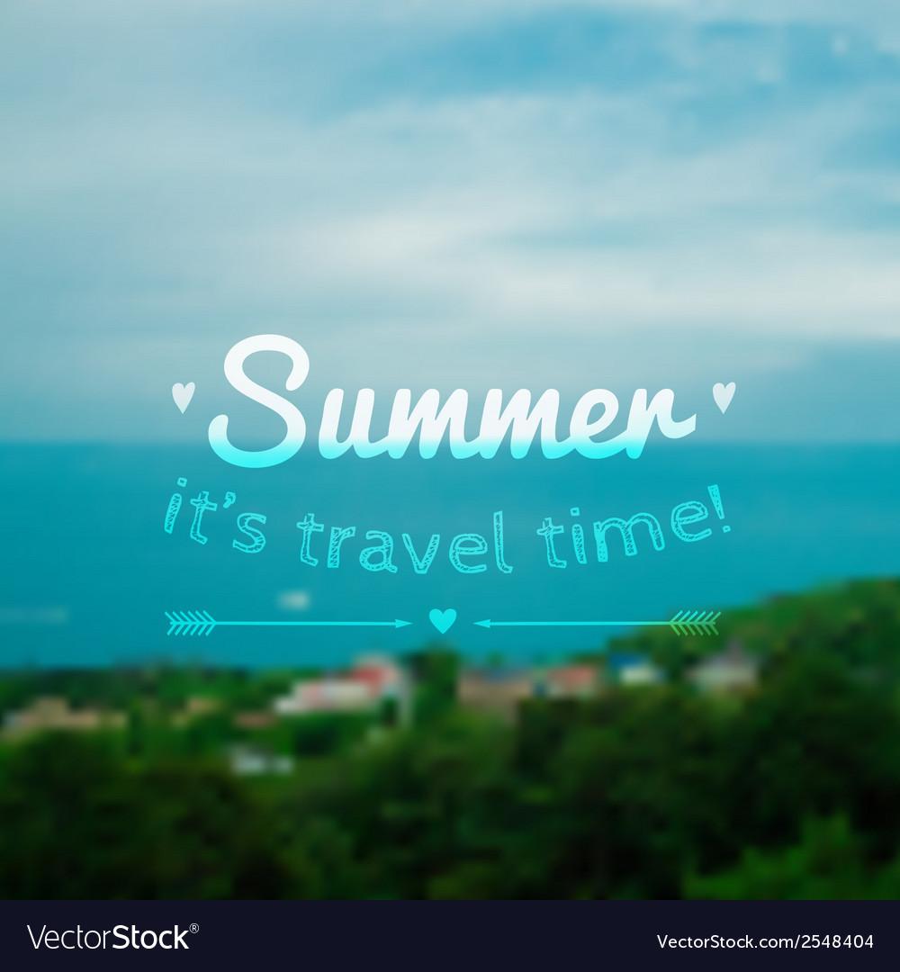 Blurred summer landscape background vector | Price: 1 Credit (USD $1)