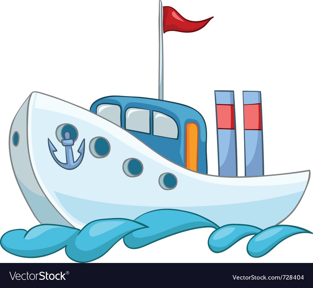 Cartoon ship vector | Price: 1 Credit (USD $1)
