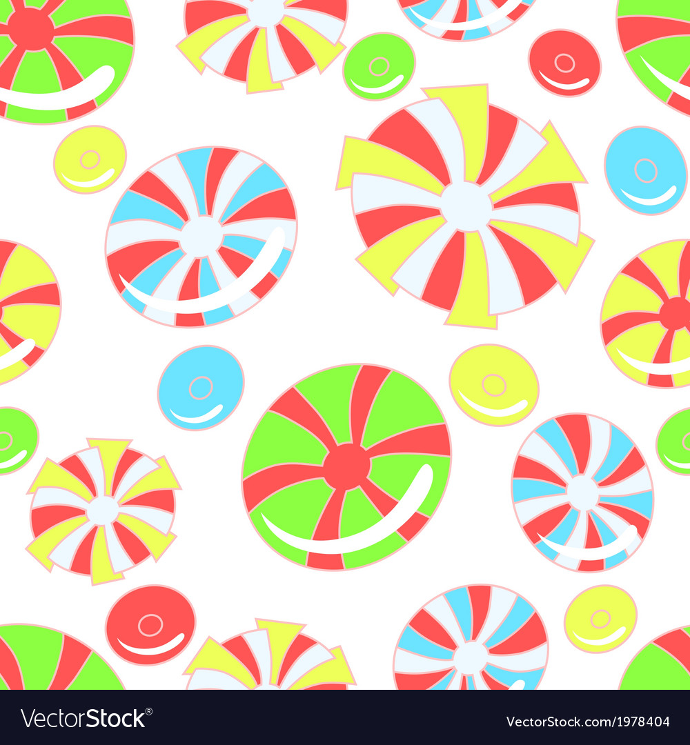 Colorful pattern with abstract candies vector | Price: 1 Credit (USD $1)