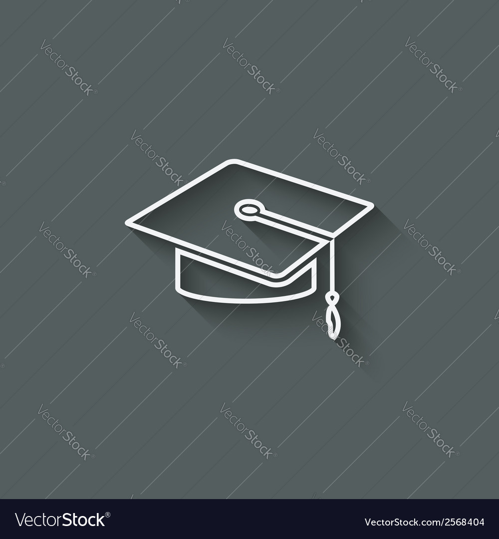 Graduation cap design element vector | Price: 1 Credit (USD $1)