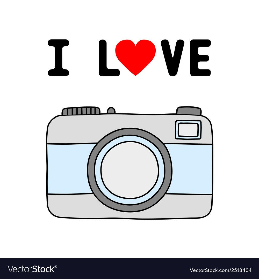 I love camera1 vector | Price: 1 Credit (USD $1)