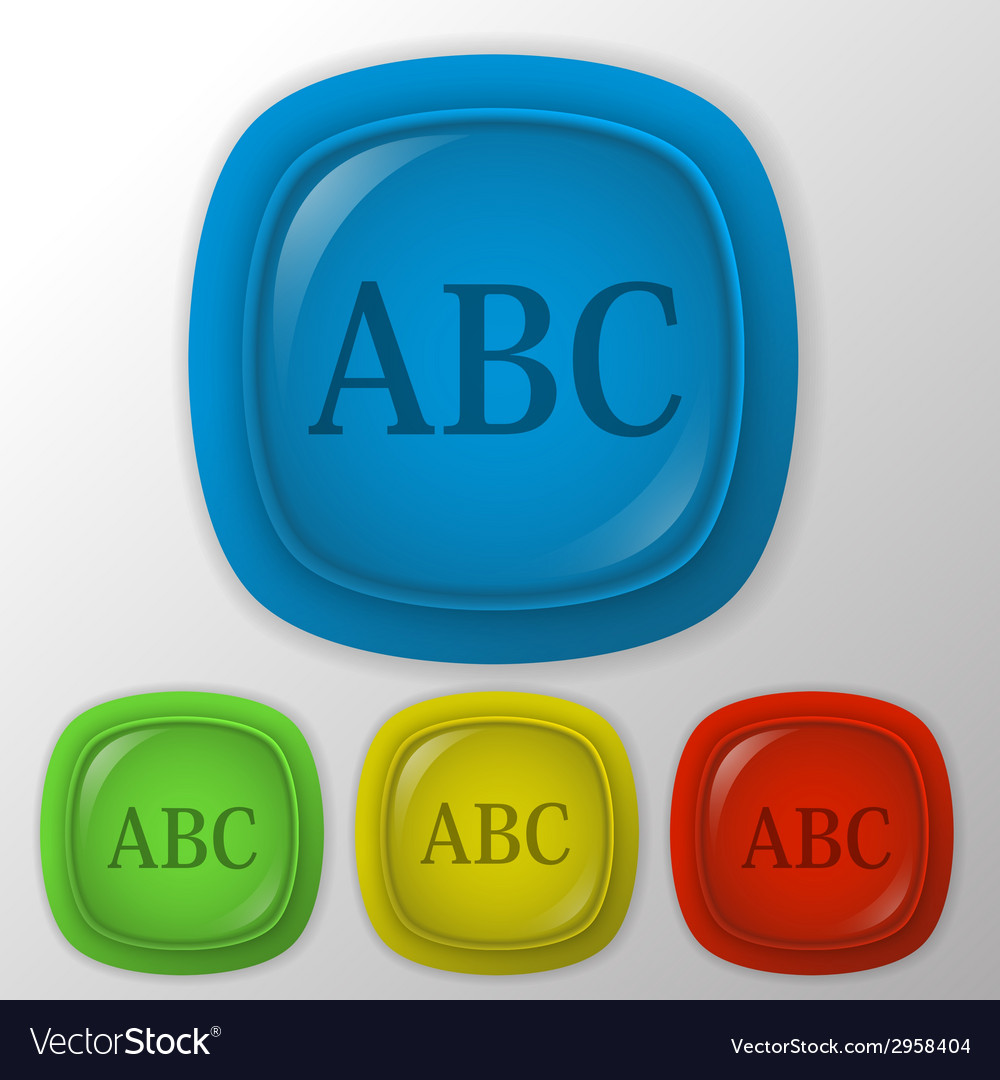 Letters of the alphabet icon learning school vector | Price: 1 Credit (USD $1)