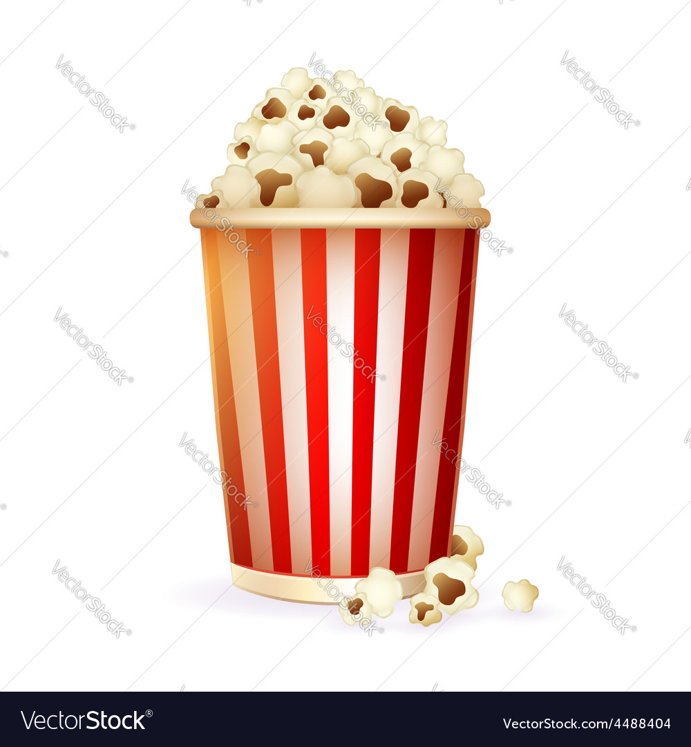 Realistic striped disposable paper cup vector   Price: 3 Credit (USD $3)