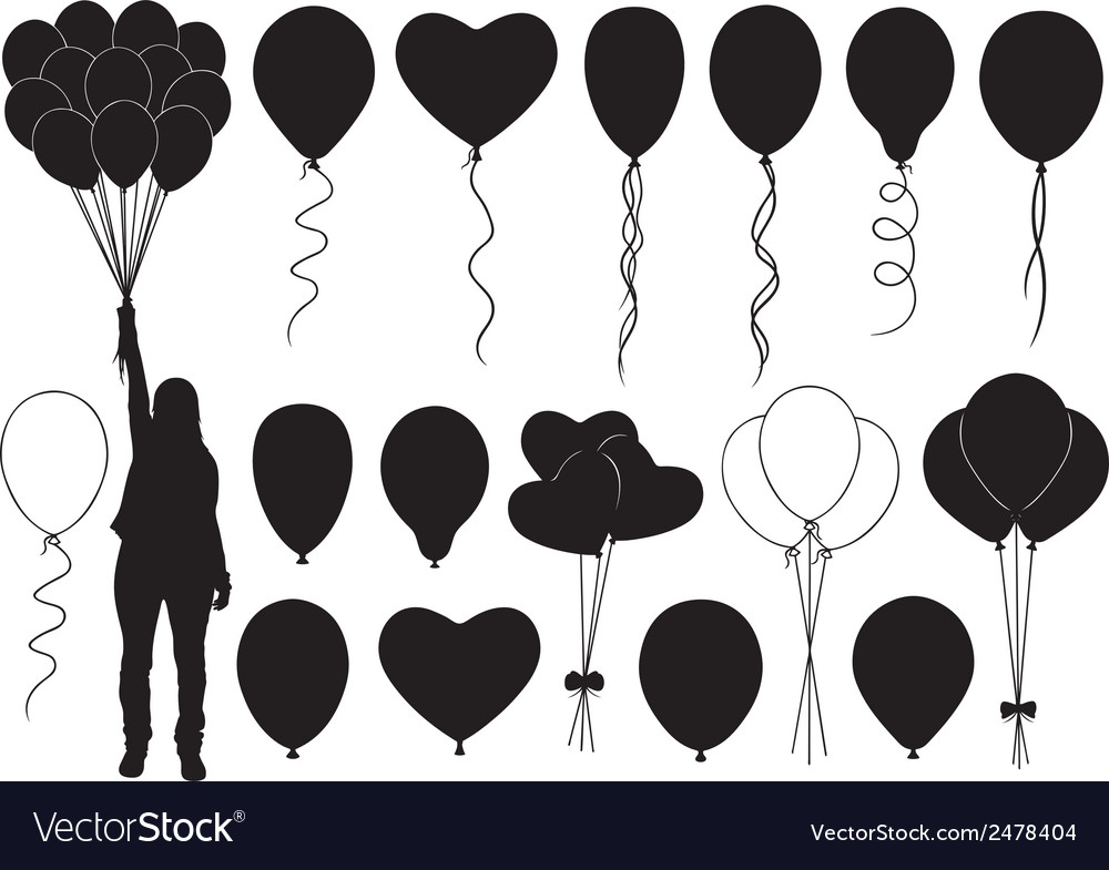 Set of different balloons vector | Price: 1 Credit (USD $1)