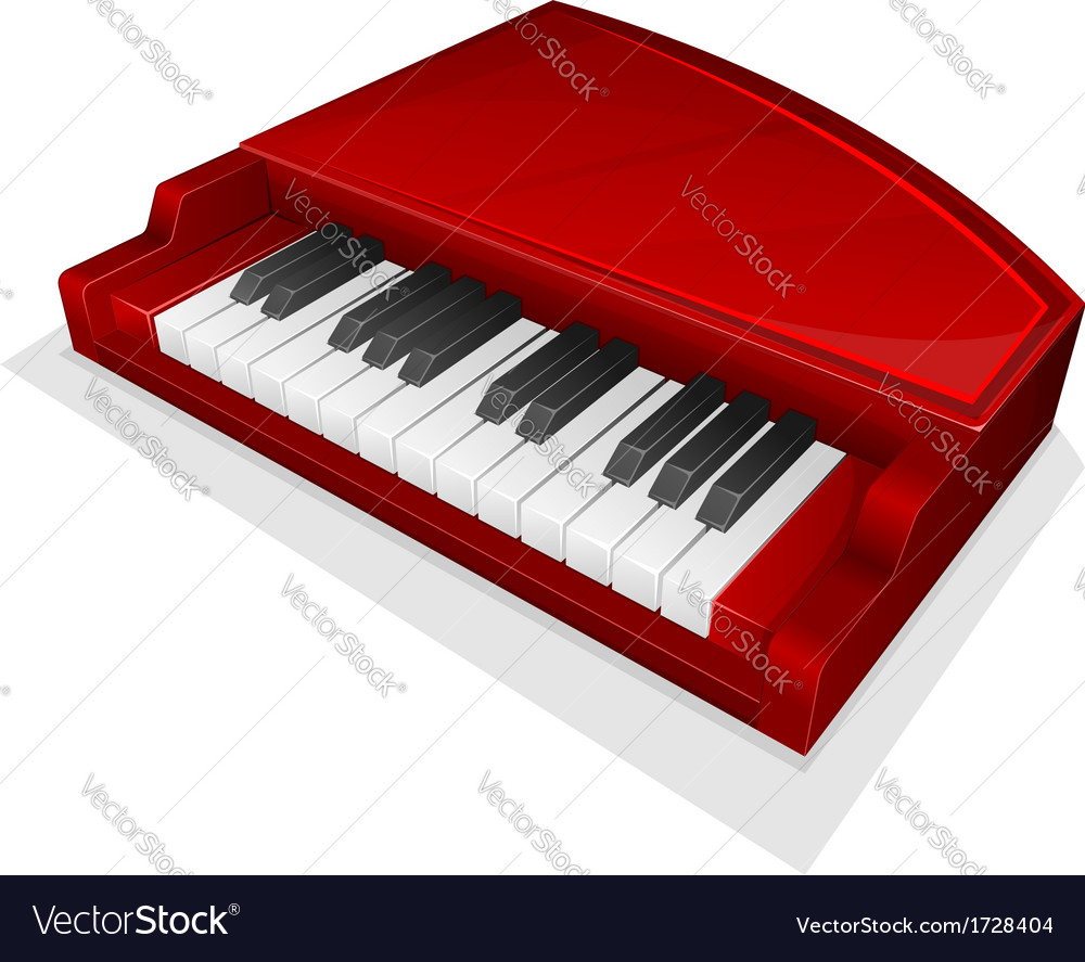 Small red piano vector | Price: 1 Credit (USD $1)