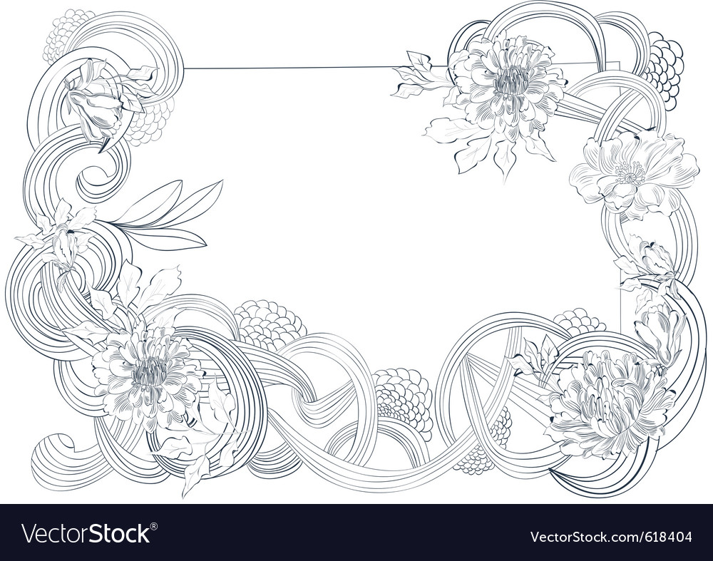Template for card with stylized floral element vector | Price: 1 Credit (USD $1)
